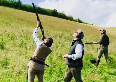 Simulated Game Shooting Scotland Scottish Borders
